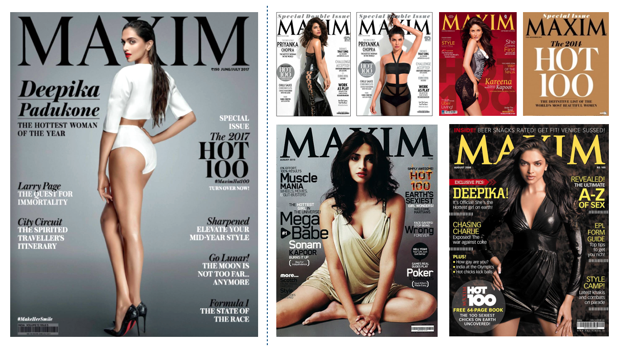 Badly designed Maxim Hot 100 Cover