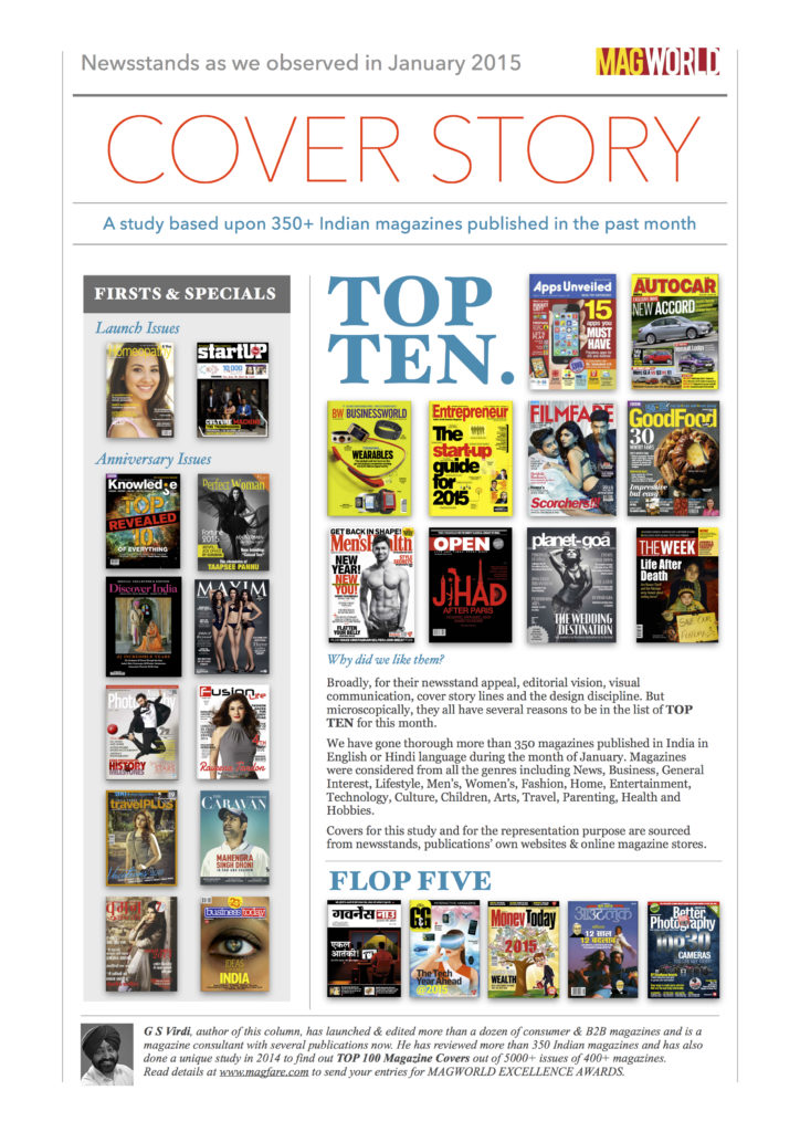 Top Ten Covers of Jan 2015