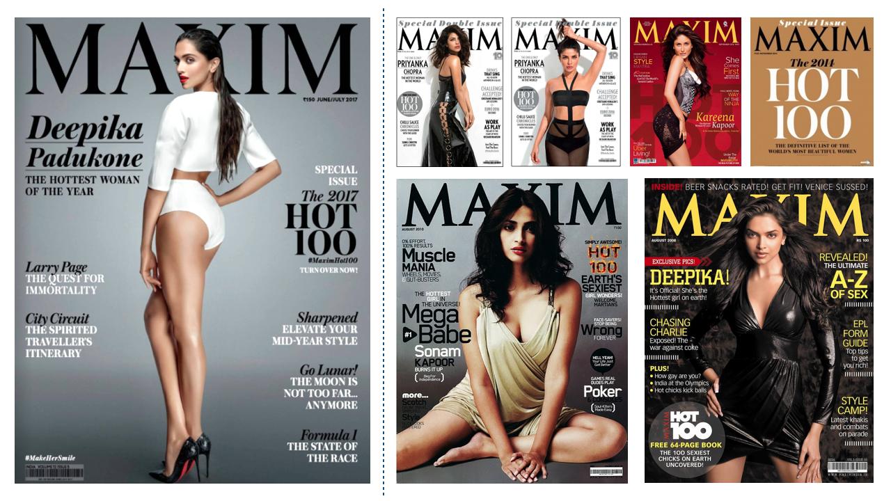 Badly designed Maxim Hot 100 Cover