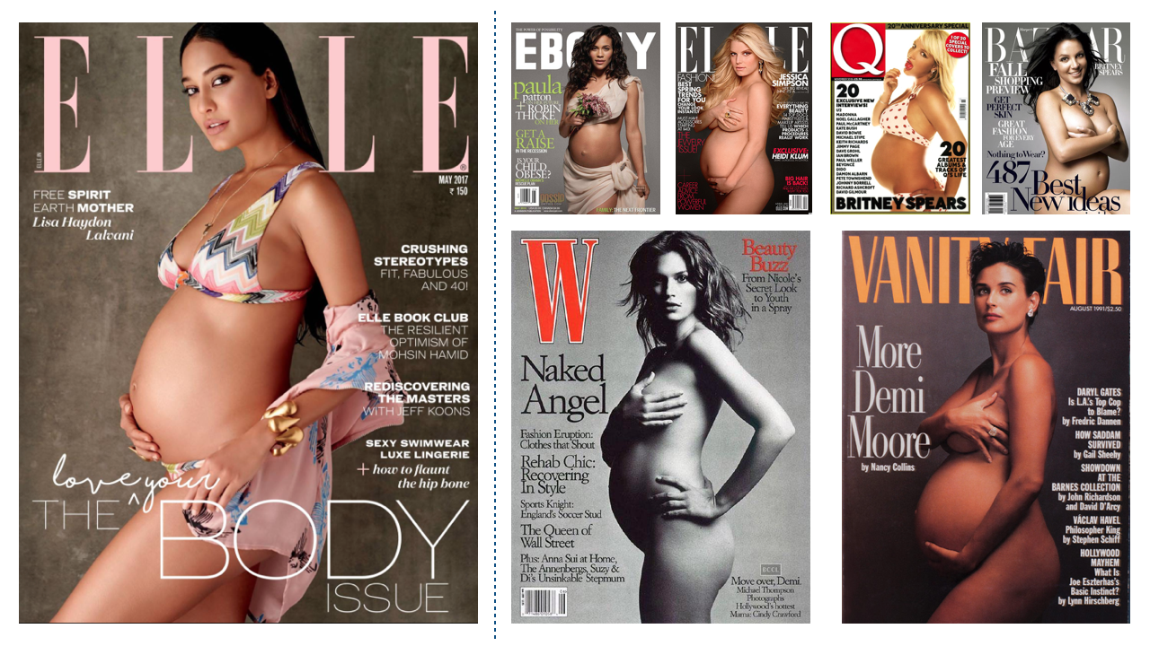 Indian Naked cover vs Foreign Magazines