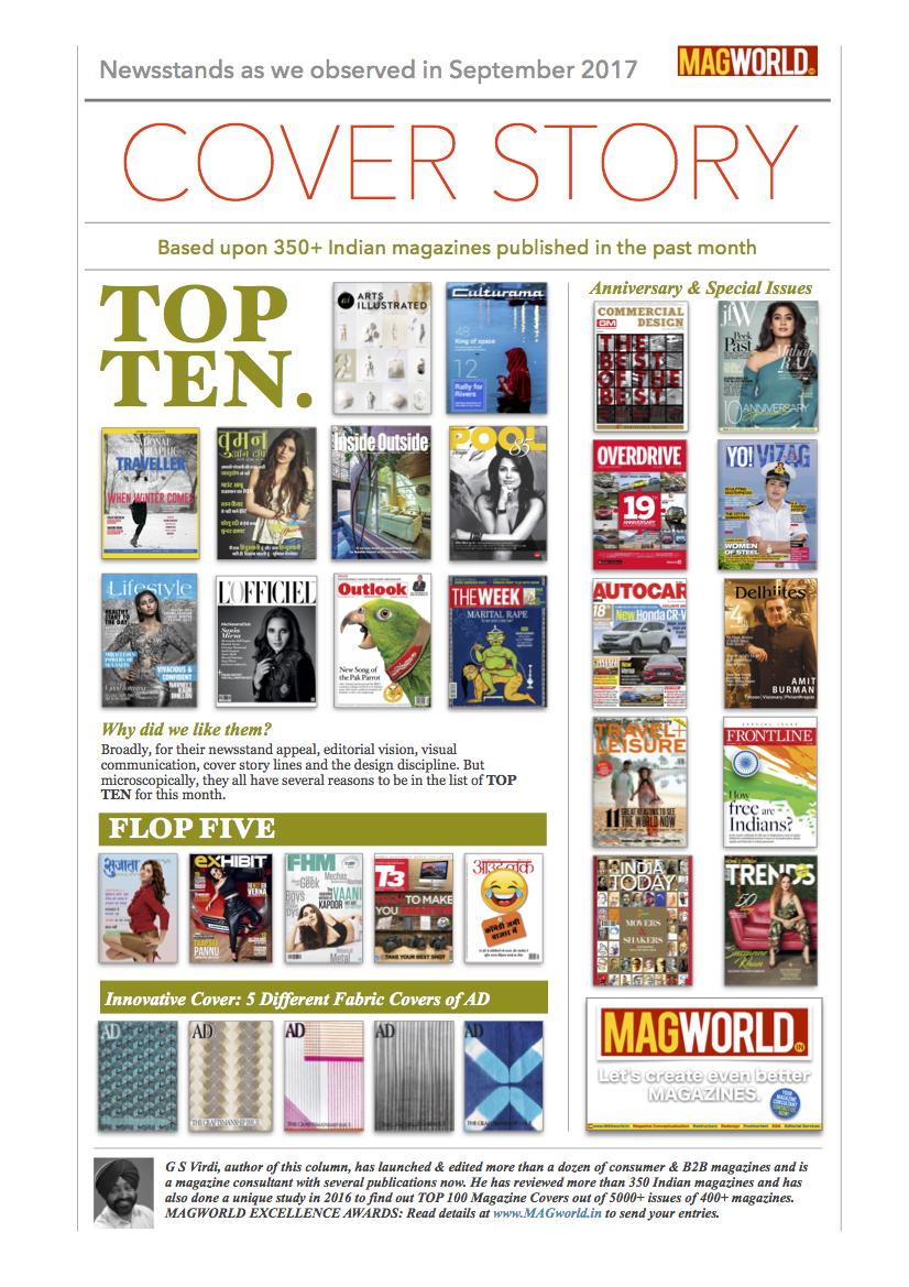 Top Ten Covers of Sep 2017