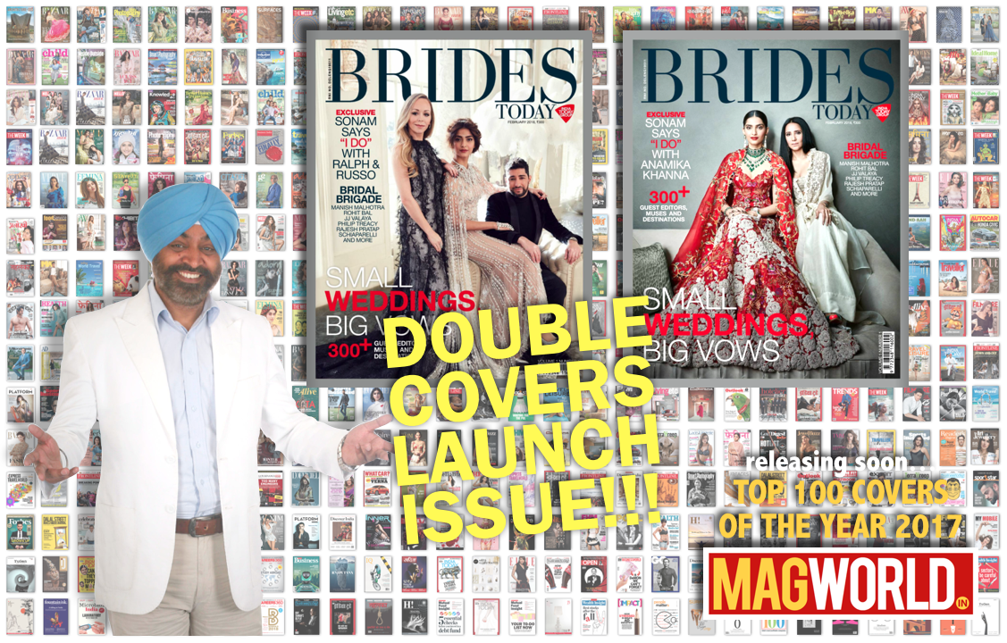 Double Covers Launch Issue of BRIDES Today